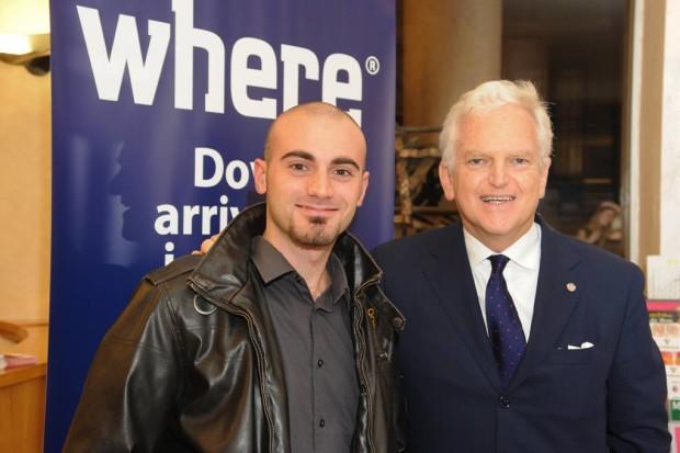 Francesco Langiulli con Andrea Jarach, direttore della rivista Where Milan